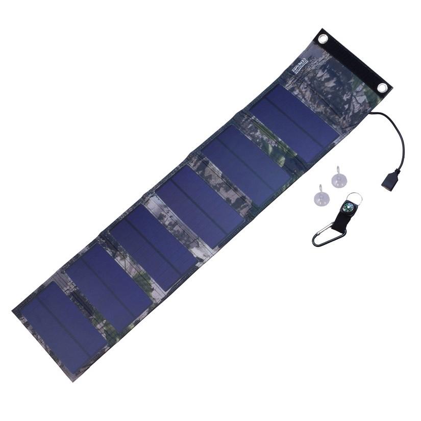 Солнечная панель 9W, USB 5V, 1.8A, ES-6
