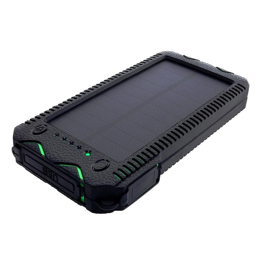Power Bank 12000mAh (44,4Wh) с солнечной панелью 1W, S12000G