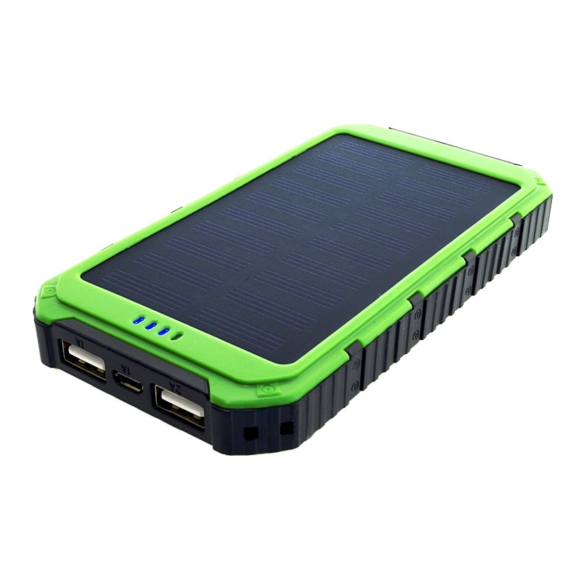 Power Bank 6000mAh (22,2Wh) with solar panel 0,8W, S6000G