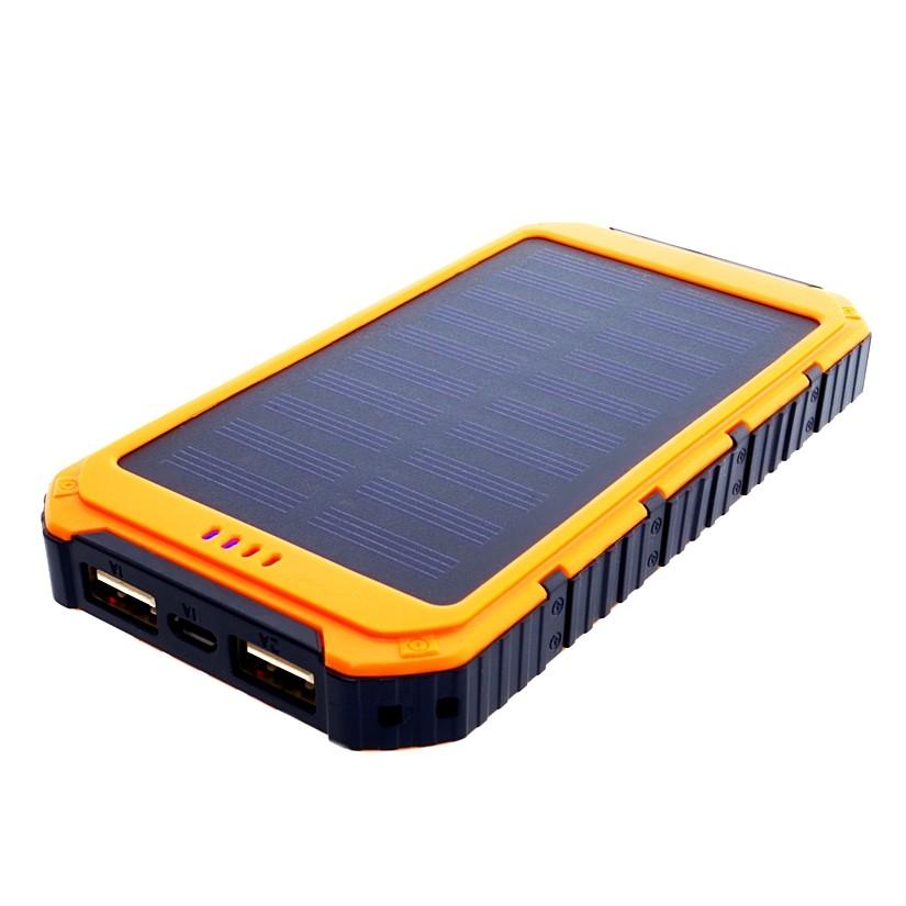 Power Bank 6000mAh (22,2Wh) mit Solarpaneel 0,8W, S6000Y