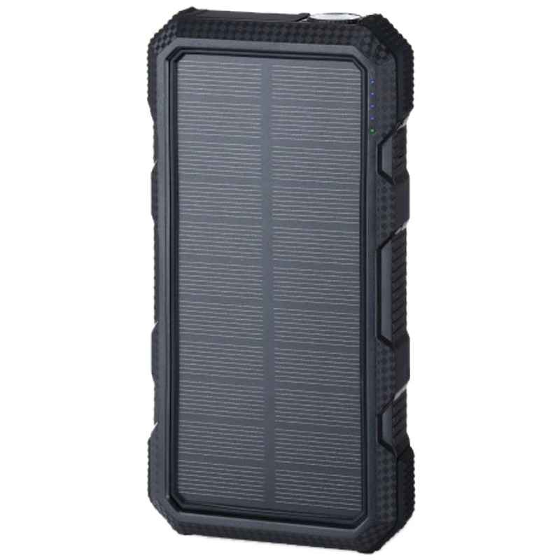 Power Bank 20000mAh (74Wh) med solcellepanel 1.5W, S20000B