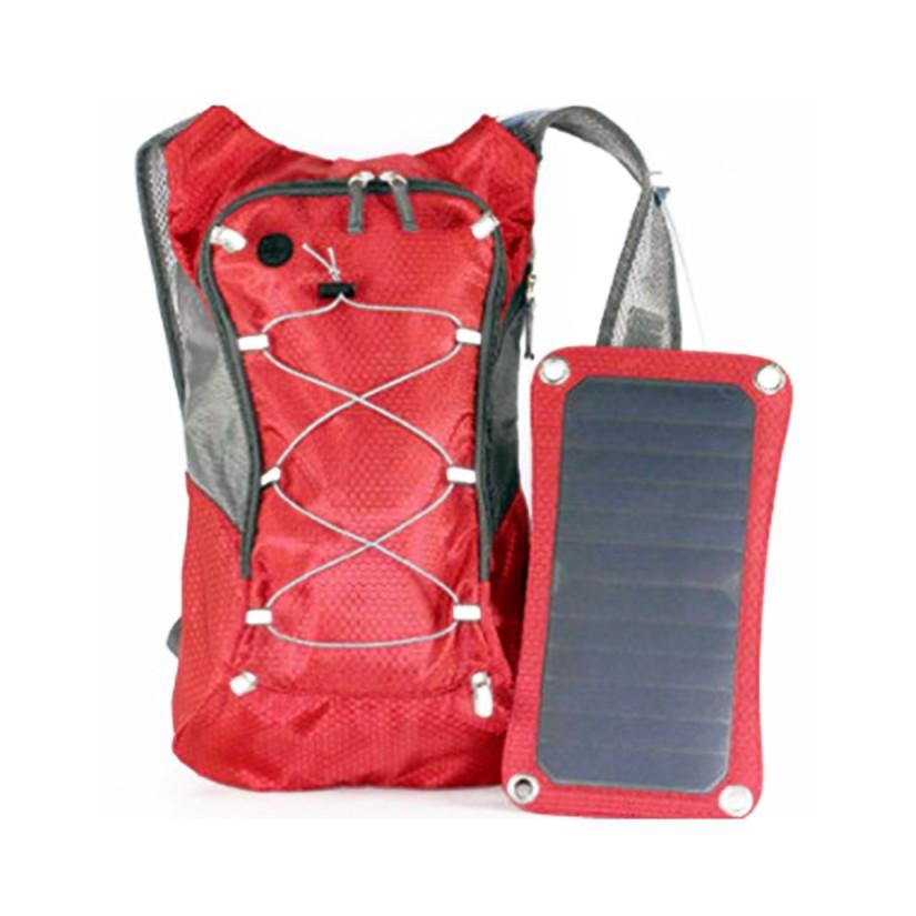 USB 5V 1.2A Reiserucksack mit Trinkflasche 8l und Solarpaneel 7W Ausgang